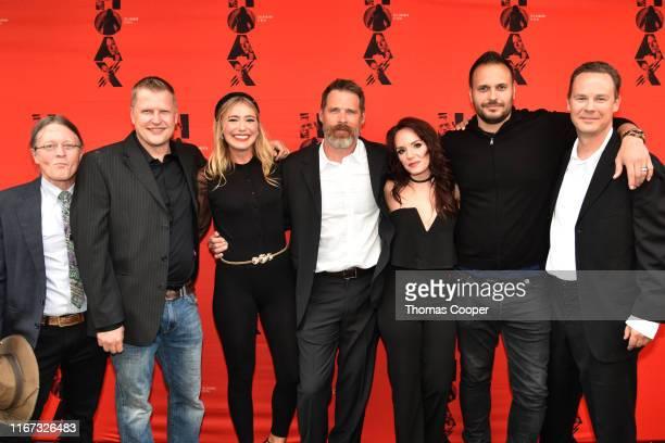 Actors Schuyler Denham, Brian Landis Folkins, Shoshana Bush, Ben Browder, Cheryl Texiera, Max Decker and writer/producer Matt Allen on the red carpet...