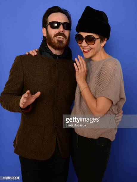 Actors Scoot McNairy and actress Maggie Gyllenhaal pose for a portrait during the 2014 Sundance Film Festival at the WireImage Portrait Studio at the...