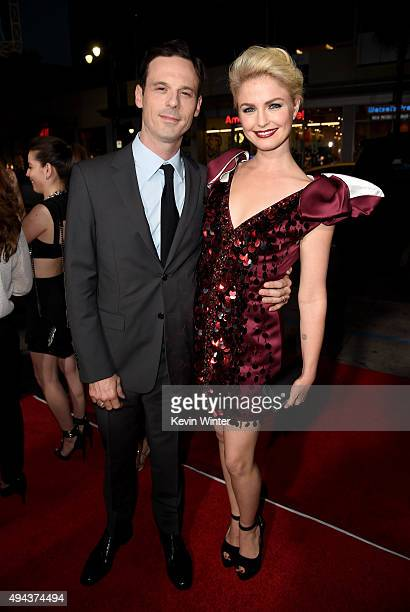 Actors Scoot McNairy and Whitney Able attend the premiere of Warner Bros Pictures' Our Brand Is Crisis at TCL Chinese Theatre on October 26 2015 in...