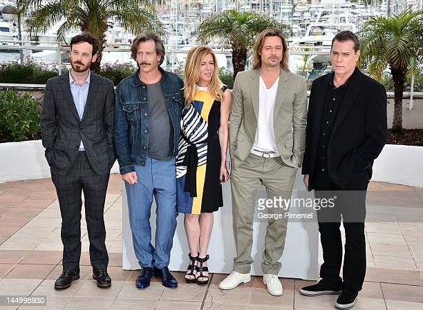 Actors Scoot McNairy Ben Mendelsohn Dede Gardner Brad Pitt and Ray Liotta pose at the 'Killing Them Softly' Photocall during the 65th Annual Cannes...
