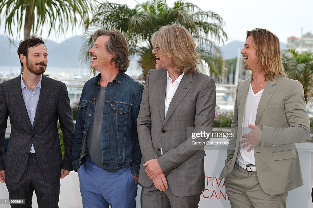Actors Scoot McNairy, Ben Mendelsohn, director Andrew Dominik and Brad Pitt pose at the 'Killing Them Softly' photocall during the 65th Annual Cannes Film Festival at Palais des Festivals on May 22, 2012 in Cannes, France.