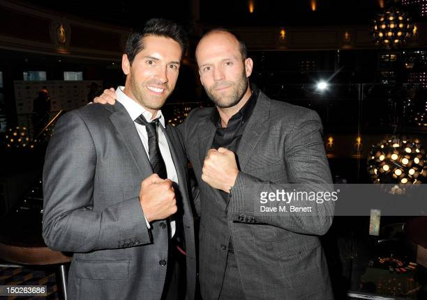Actors Scott Adkins and Jason Statham attend The Expendables 2 Post Premiere Party at The Hippodrome Casino in association with Ciroc Vodka on August...