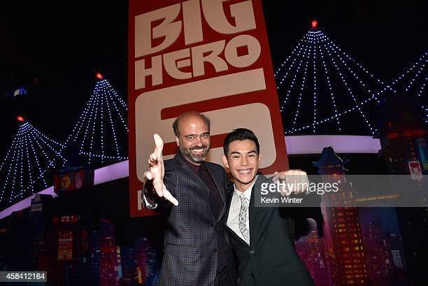 Actors Scott Adsit and Ryan Potter attend the premiere of Disney's Big Hero 6 at the El Capitan Theatre on November 4 2014 in Hollywood California