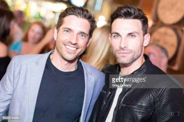 Actors Scott Bailey and Erik Fellows attend the Cast Premiere Screening Of Lany Entertainment's The Bay Season 3 After Party at 33 Taps Hollywood on...