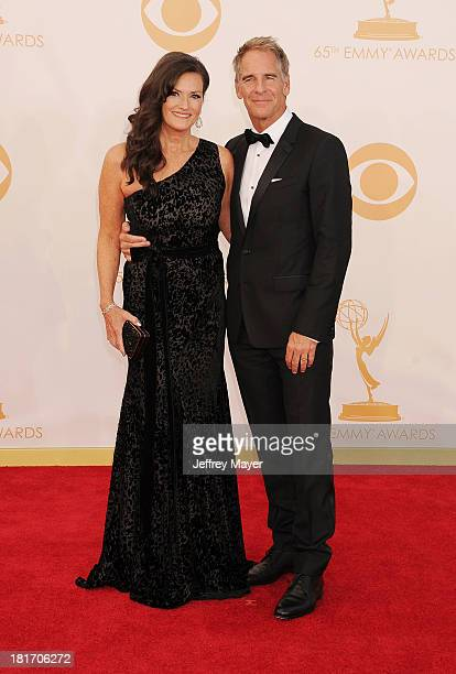 Actors Scott Bakula and Chelsea Field arrive at the 65th Annual Primetime Emmy Awards at Nokia Theatre LA Live on September 22 2013 in Los Angeles...
