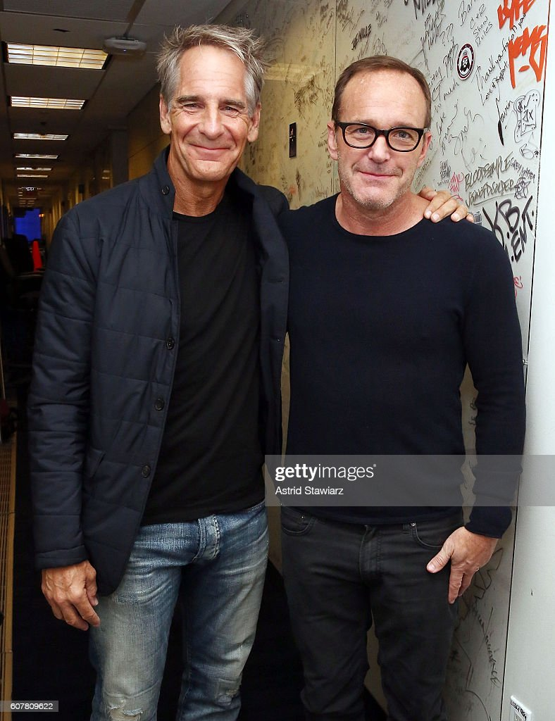 Actors Scott Bakula and Clark Gregg visit the SiriusXM Studios on September 19, 2016 in New York City.