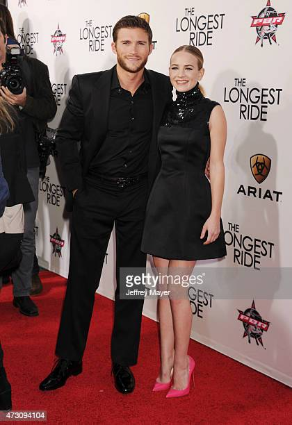 Actors Scott Eastwood and Britt Robertson attend the premiere of Twentieth Century Fox's 'The Longest RIde' at the TCL Chinese Theatre IMAX on April...
