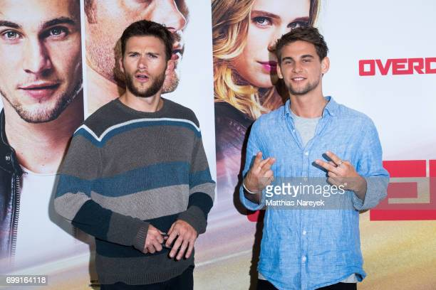 Actors Scott Eastwood and Freddie Thorp attend the 'Overdrive' Photo Call at Hotel De Rome on June 21 2017 in Berlin Germany