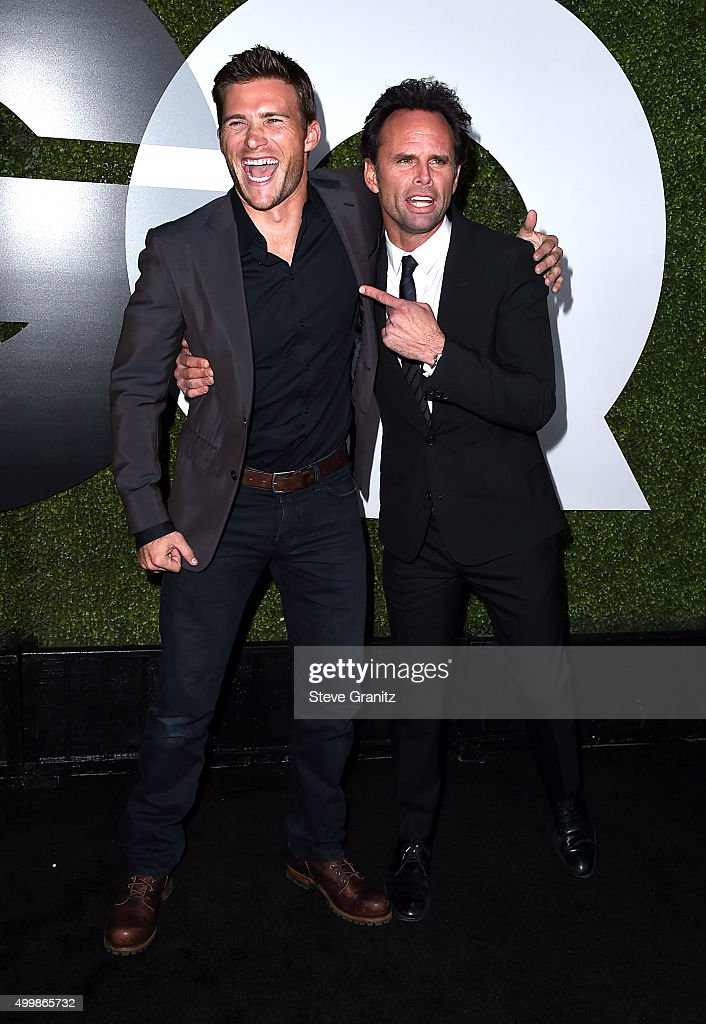 Actors Scott Eastwood (L) and Walton Goggins attend the GQ 20th Anniversary Men Of The Year Party at Chateau Marmont on December 3, 2015 in Los Angeles, California.