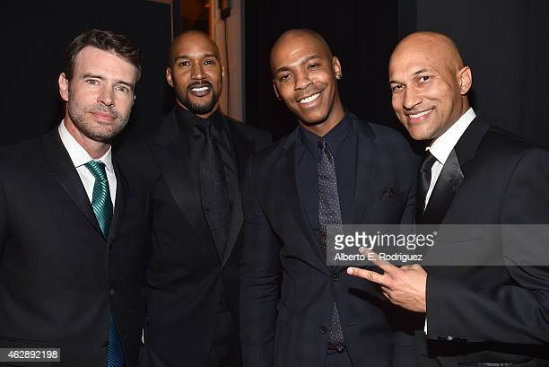 Actors Scott Foley Henry Simmons Mehcad Brooks and KeeganMichael Key attend the 46th NAACP Image Awards presented by TV One at Pasadena Civic...