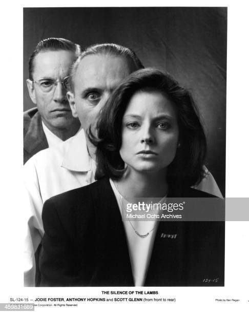 Actors Scott Glenn Anthony Hopkins and actress Jodie Foster pose for the movie ' The Silence of the Lambs ' circa 1991