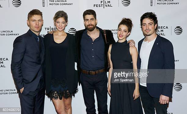 Actors Scott Haze Analeigh Tipton Adam Goldberg Olivia Thirlby and Ben Feldman attend the 2016 Tribeca Film Festival 'Between Us' Premiere at SVA...