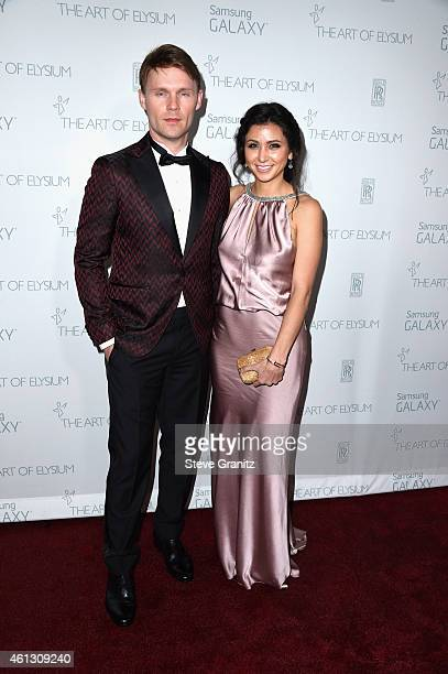 Actors Scott Haze and Elissa Shay attend The Art of Elysium 8th Annual Heaven Gala at Hangar 8 on January 10 2015 in Santa Monica California