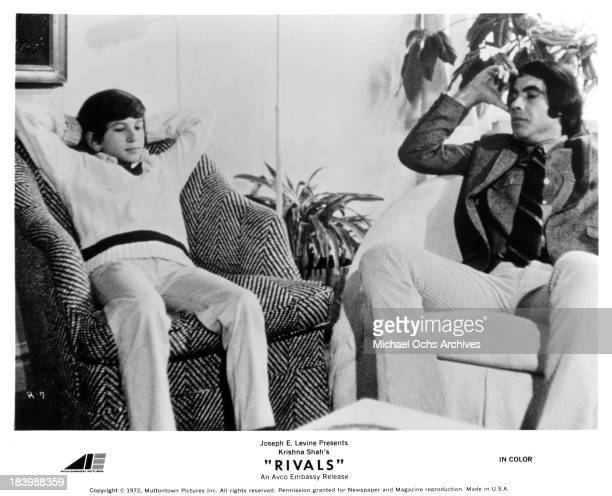 """Actors Scott Jacoby and Robert Klein on set of the movie """"Rivals"""" in 1972."""