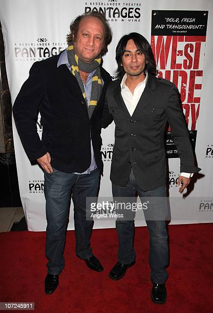 Actors Scott Krinsky and Vik Sahay attend the opening night of 'West Side Story' at the Pantages Theatre on December 1 2010 in Hollywood California