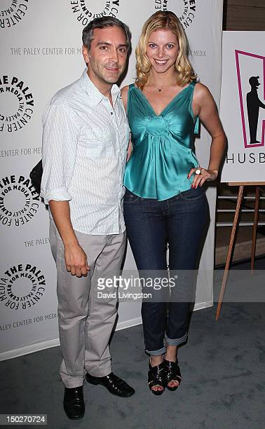 Actors Scott Lowell and Hilary Barraford attend The Paley Center for Media's panel discussion of the online series Husbands Season 2 at The Paley...