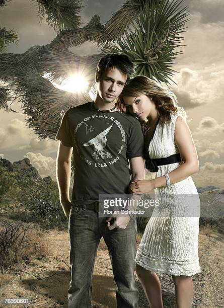 Actors Scott Mechlowicz and Charity Shea are photographed for Movieline Magazine in 2006 PUBLISHED IMAGE