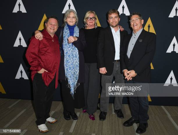 Actors Scott Schwartz Melinda Dillon production designer Reuben Freed costume designer Mary E McLeod and actor Peter Billingsley attend the Academy...