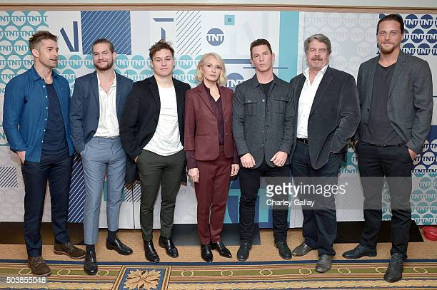 Actors Scott Speedman Jake Weary Finn Cole Ellen Barkin Shawn Hatosy executive producer John Wells and actor Ben Robson of 'Animal Kingdom' attend...