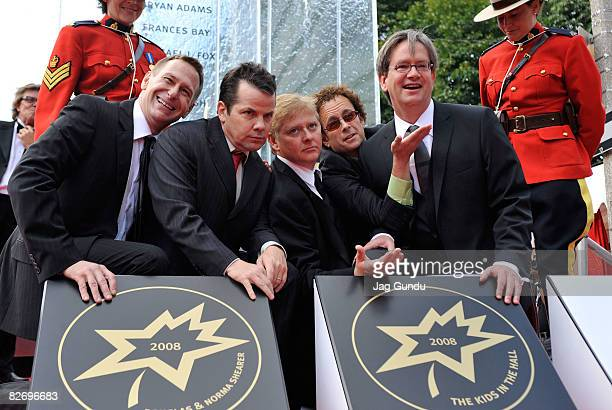 Actors Scott Thompson Bruce McCulloch Dave Foley Kevin McDonald Mark McKinney of The Kids In The Hall attend the 2008 Canada's Walk of Fame held at...