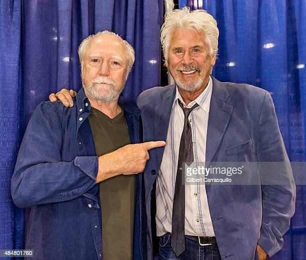 Actors Scott Wilson and Barry Bostwick attend Wizard World Comic Con Chicago 2015 Day 2 at Donald E Stephens Convention Center on August 21 2015 in...