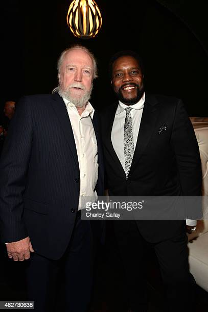 Actors Scott Wilson and Chad Coleman attend the after party for Amazon's first original drama series 'Bosch' at Lure Hollywood on February 3 2015 in...