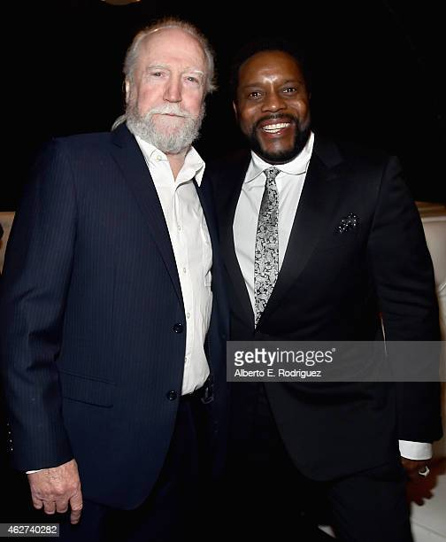 Actors Scott Wilson and Chad Coleman attend the after party for the premiere screening for Amazon's first original drama series 'Bosch' on February 3...