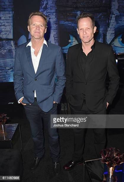 Actors Scott Winters and Dean Winters attend EPIX Berlin Station LA premiere at Milk Studios on September 29 2016 in Los Angeles California
