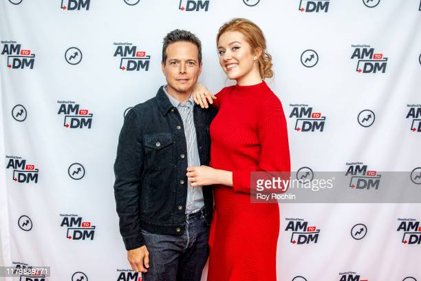 Actors Scott Wolf and Kennedy McMann discuss Nancy Drew with BuzzFeed's AM To DM on October 08 2019 in New York City