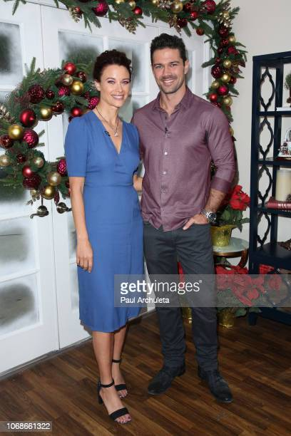 Actors Scottie Thompson and Ryan Paevey visit Hallmark's 'Home Family' at Universal Studios Hollywood on November 16 2018 in Universal City California