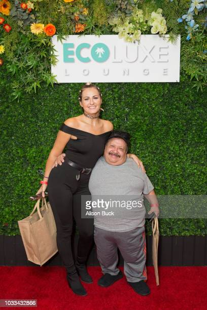 Actors Scout TaylorCompton and Chuy Bravo attend EcoLuxe PreAwards Party on September 15 2018 in Beverly Hills California