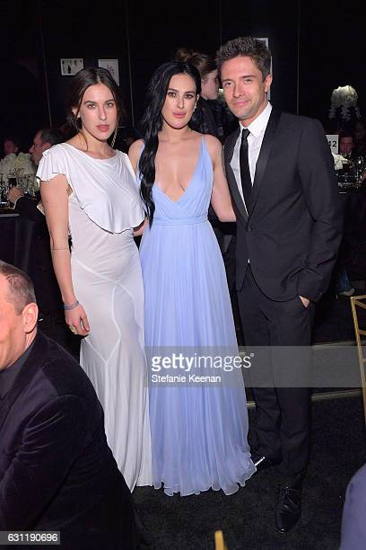 Actors Scout Willis Rumer Willis and Topher Grace attend The Art of Elysium presents Stevie Wonder's HEAVEN Celebrating the 10th Anniversary at Red...