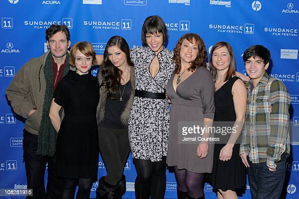 Actors Sean Bridgers Lauren Ashley Carter Carlee Baker Pollyanna McIntosh Lauren Petre Alexa Marcigliano and Zach Rand attend 'The Woman' Premiere at...