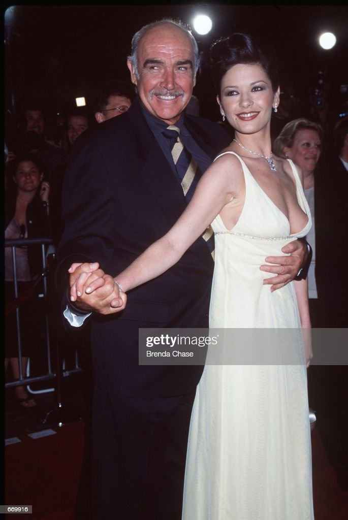 Actors Sean Connery And Catherine Zeta Jones Attend The Premiere Of Their New Movie