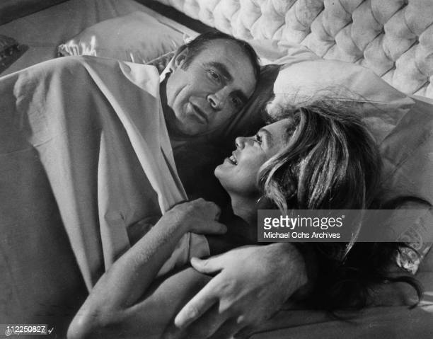 Actors Sean Connery and Dyan Cannon in a scene from the movie 'The Anderson Tapes' in 1971 in New York City New York