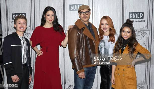 Actors Sean Giambrone Taylor Ortega Todd Stashwick Sadie Stanley and Ciara Riley Wilson attend the Build Series to discuss Kim Possible at Build...