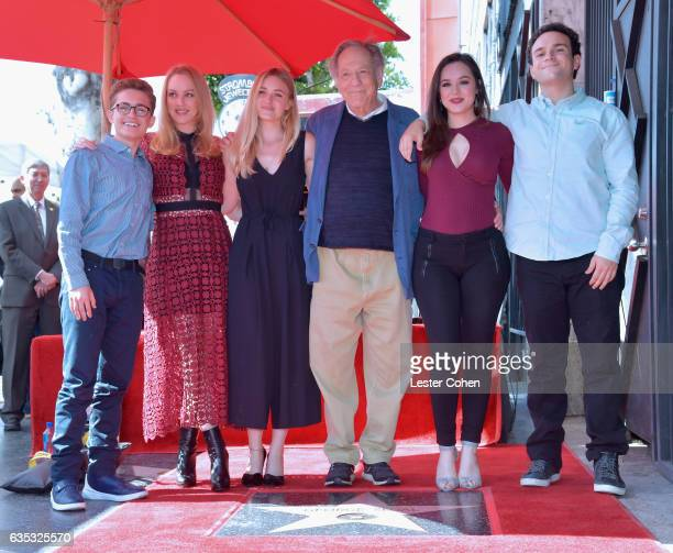 Actors Sean Giambrone Wendi McLendonCovey AJ Michalka George Segal Hayley Orrantia and Troy Gentile attend George Segal's star ceremony on the...