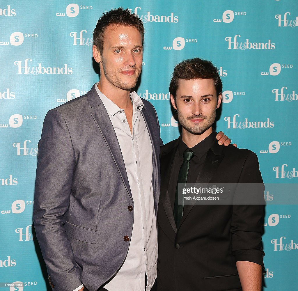 Actors Sean Hemeon (L) and Brad Bell attend the premiere of CW Seed's 'Husbands' at The Paley Center for Media on August 14, 2013 in Beverly Hills, California.