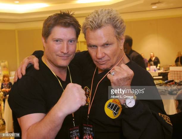 Actors Sean Kanan and Martin Kove attend The Hollywood Show held at Westin LAX Hotel on February 10 2018 in Los Angeles California