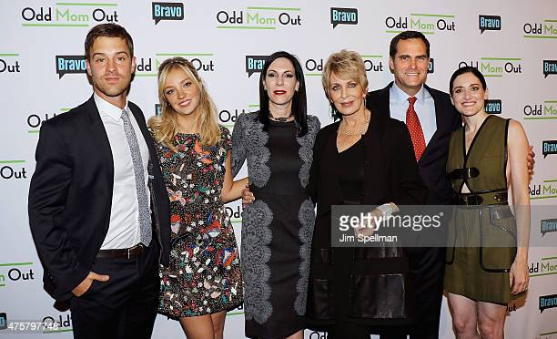 Actors Sean Kleier Abby Elliott Jill Kargman Joanna Cassidy Andy Buckley and KK Glick attend the Bravo Presents a special screening of Odd Mom Out at...