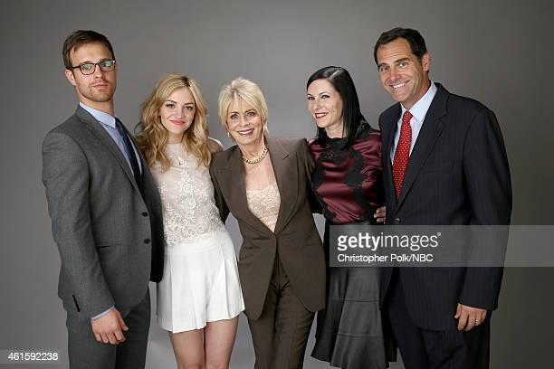 Actors Sean Kleier Abby Elliott Joanna Cassidy Jill Kargman and Andy Buckley of Odd Mom Out pose for a portrait during the NBCUniversal TCA Press...