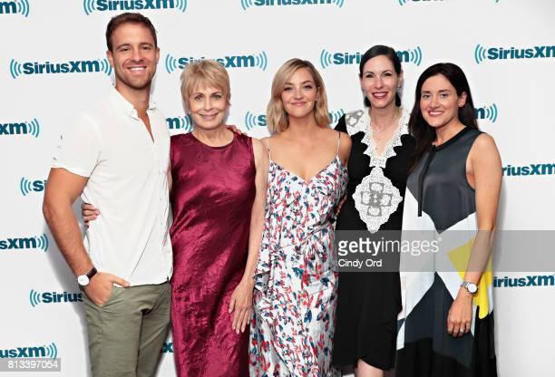 Actors Sean Kleier Joanna Cassidy Abby Elliott Jill Kargman and KK Glick of Bravo's Odd Mom Out visit the SiriusXM Studio on July 12 2017 in New York...