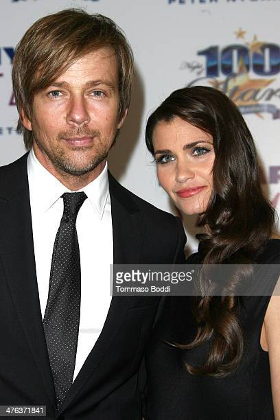 Actors Sean Patrick Flanery and Lauren Hill attend the Norby Walters' 24nd annual Night Of 100 Stars Oscar viewing gala held at the Beverly Hills...