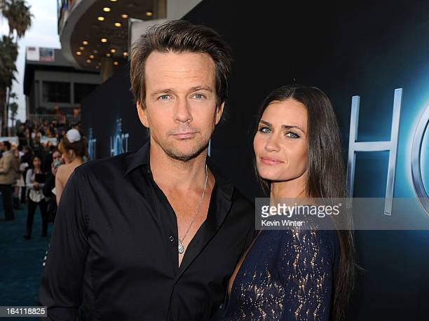 Actors Sean Patrick Flanery and Lauren Hill attend the premiere of Open Road Films The Host at ArcLight Cinemas Cinerama Dome on March 19 2013 in...
