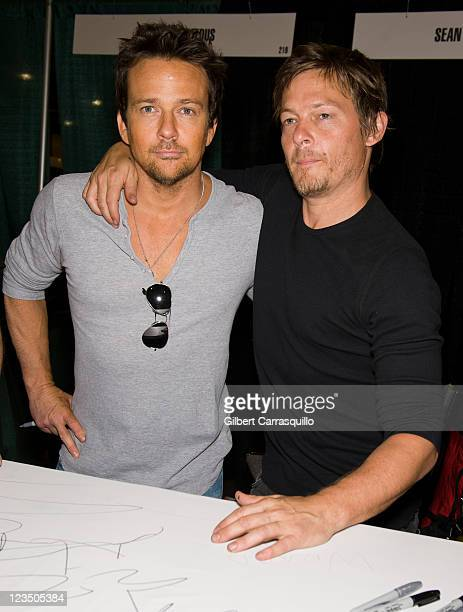Actors Sean Patrick Flanery and Norman Reedus attend Wizard World's Philadelphia Comic Con 2011 at the Pennsylvania Convention Center on June 18 2011...