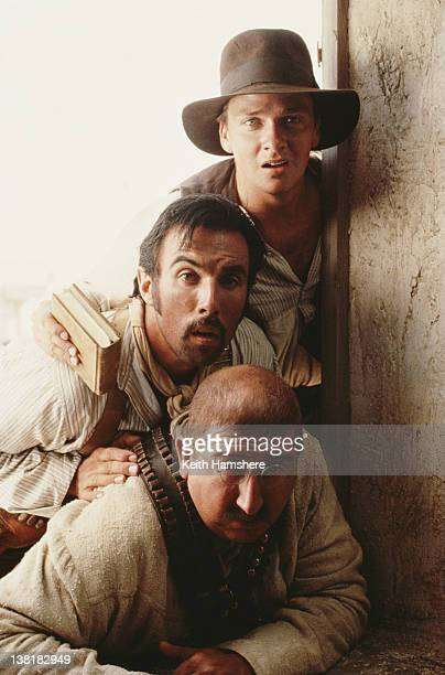 Actors Sean Patrick Flanery Francesco Quinn and Ronny Coutteure in the television series 'The Young Indiana Jones Chronicles' 1992 This scene appears...