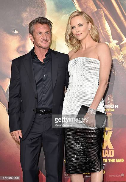 Actors Sean Penn and Charlize Theron attend the premiere of Warner Bros Pictures' Mad Max Fury Road at TCL Chinese Theatre on May 7 2015 in Hollywood...