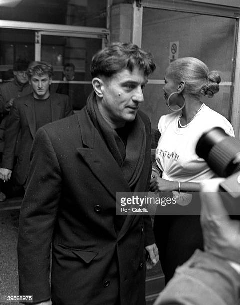 Actors Sean Penn and Robert DeNiro and Toukie Smith attend Fashion Auction Benef for AIDS Research Honoring Willi Smith on February 26 1989 at Tower...