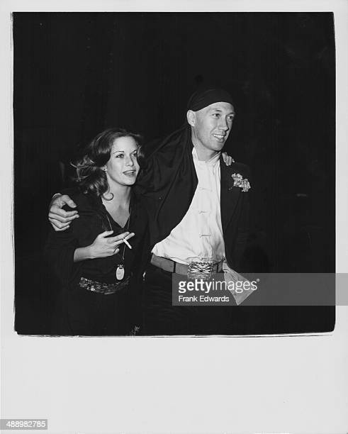 Actors Season Hubley and David Carradine attending the 'Carol Burnett Salute' at the Beverly Wiltshire Hotel California October 30th 1974