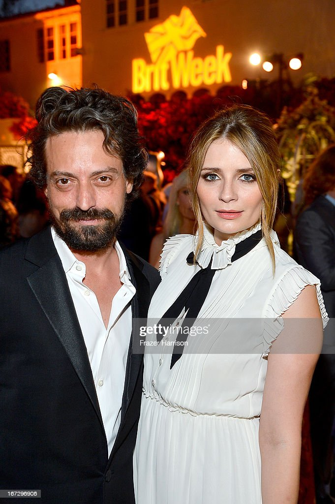 Actors Sebastian Knapp (L) and Mischa Barton attend the launch of the Seventh Annual BritWeek Festival 'A Salute To Old Hollywood' on April 23, 2013 in Los Angeles, California.